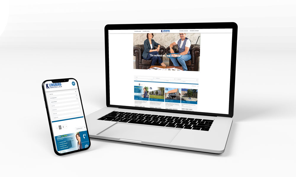 Klingberg Immobilien - Website-Relaunch